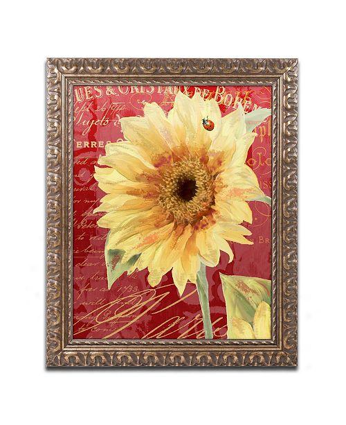 "Trademark Global Color Bakery 'Ete Lady Bug' Ornate Framed Art - 16"" x 0.5"" x 20"""