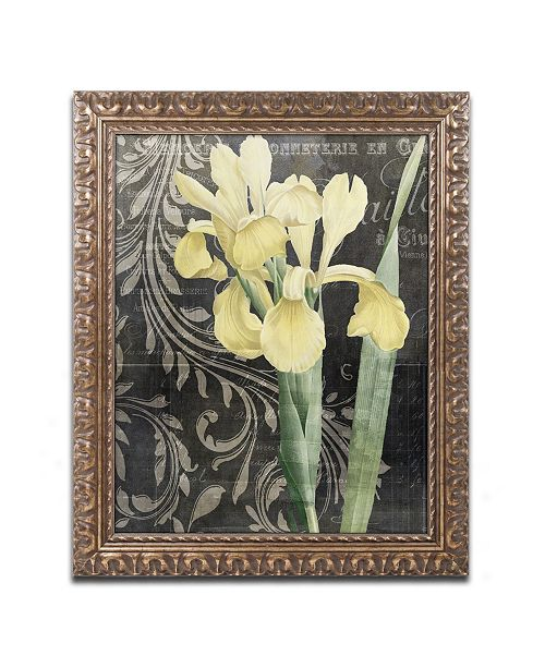 "Trademark Global Color Bakery 'Ode To Yellow' Ornate Framed Art - 16"" x 0.5"" x 20"""