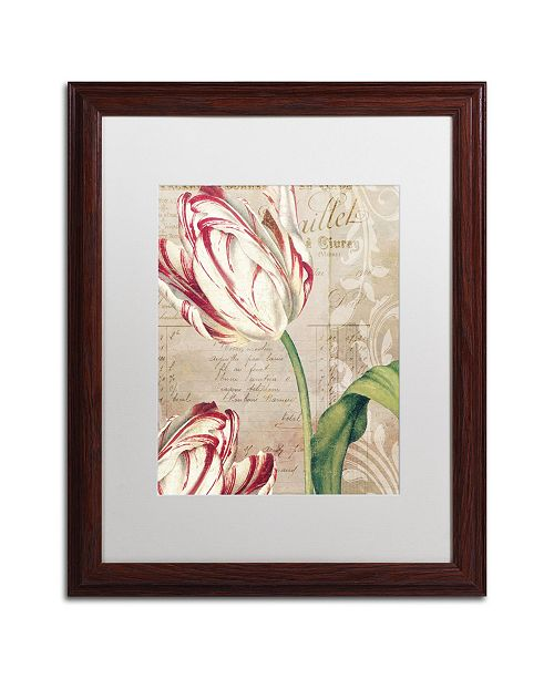 "Trademark Global Color Bakery 'Tulips' Matted Framed Art - 16"" x 0.5"" x 20"""