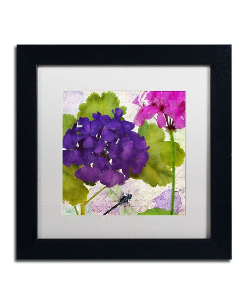 """Trademark Global Color Bakery 'Gaia I' Matted Framed Art - 11"""" x 11"""" x 0.5"""""""