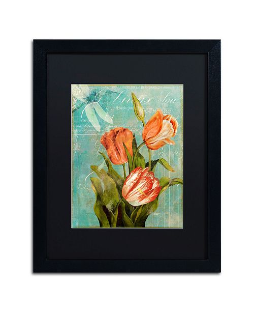 "Trademark Global Color Bakery 'Tulips Ablaze III' Matted Framed Art - 16"" x 20"" x 0.5"""
