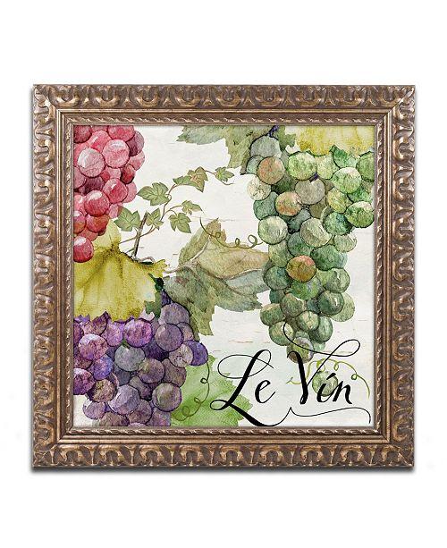 "Trademark Global Color Bakery 'Wines of Paris II' Ornate Framed Art - 11"" x 0.5"" x 11"""
