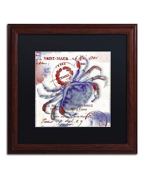 "Trademark Global Color Bakery 'Oceania I' Matted Framed Art - 16"" x 0.5"" x 16"""