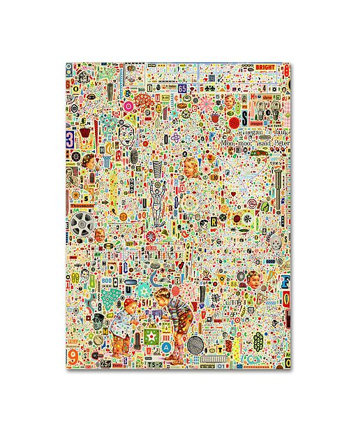 "Trademark Global Colin Johnson 'Effloresce' Canvas Art - 32"" x 24"" x 2"""