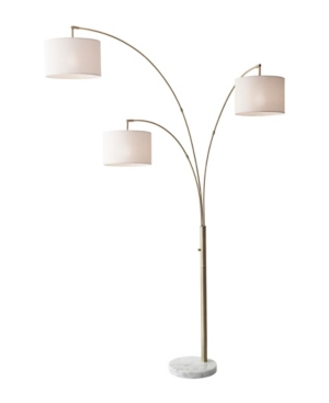 Image of 3 Arm Bowery Arc Lamp Antique Brass (Lamp Only) - Adesso