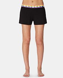 Pride Rainbow Logo Boxer Pajama Shorts