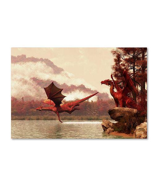 "Trademark Global Daniel Eskridge 'Autumn Dragons' Canvas Art - 19"" x 12"" x 2"""