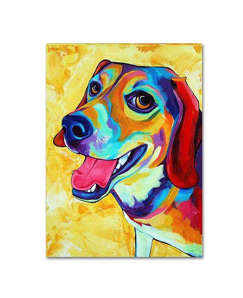 """Trademark Global Corina St. Martin 'Beagle Dog Lucy Lu' Canvas Art - 19"""" x 14"""" x 2"""""""