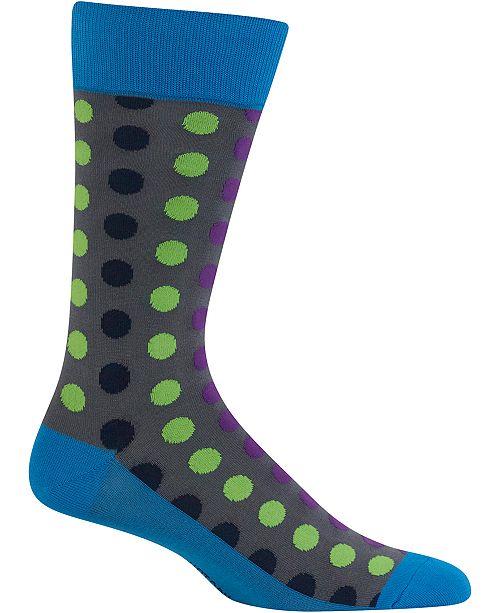 Hot Sox Men's Socks, Dot-Print