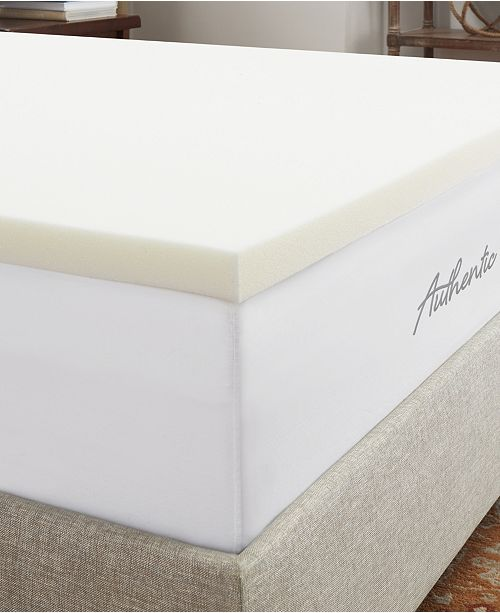"""Authentic Comfort CLOSEOUT! 2"""" Breathable Memory Foam Queen Mattress Topper"""