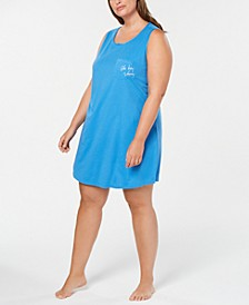 Plus Size Peekaboo-Back Sleepshirt, Created for Macy's
