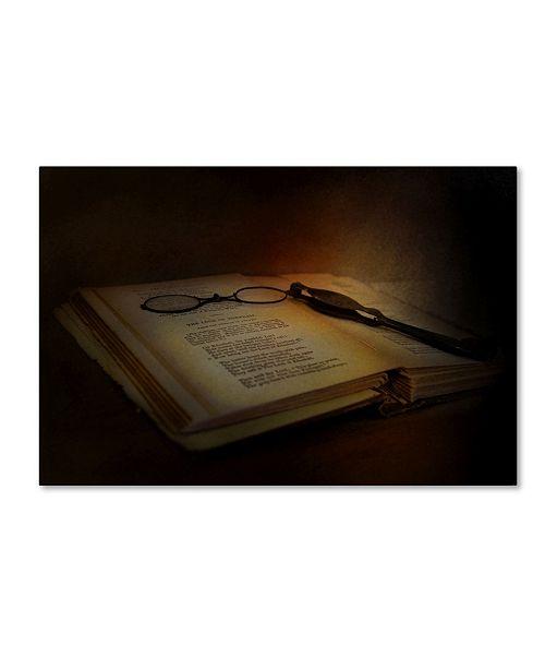 "Trademark Global Jai Johnson 'Evening Reading' Canvas Art - 32"" x 22"" x 2"""