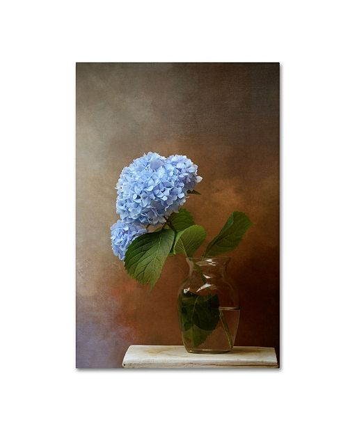 "Trademark Global Jai Johnson 'Blue Hydrangea In A Vase' Canvas Art - 47"" x 30"" x 2"""