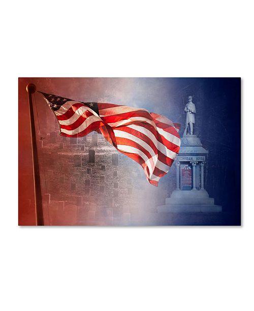 "Trademark Global Jai Johnson 'Remember Shiloh Tennessee' Canvas Art - 32"" x 22"" x 2"""