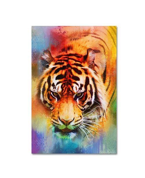 "Trademark Global Jai Johnson 'Colorful Expressions Tiger' Canvas Art - 32"" x 22"" x 2"""