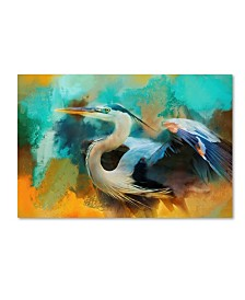 "Jai Johnson 'Colorful Expressions Heron' Canvas Art - 32"" x 22"" x 2"""