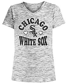 Big Girls Chicago White Sox Spacedye T-Shirt
