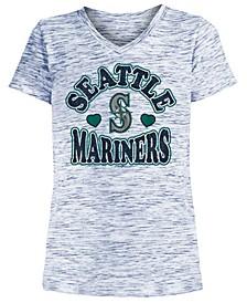 Big Girls Seattle Mariners Spacedye T-Shirt