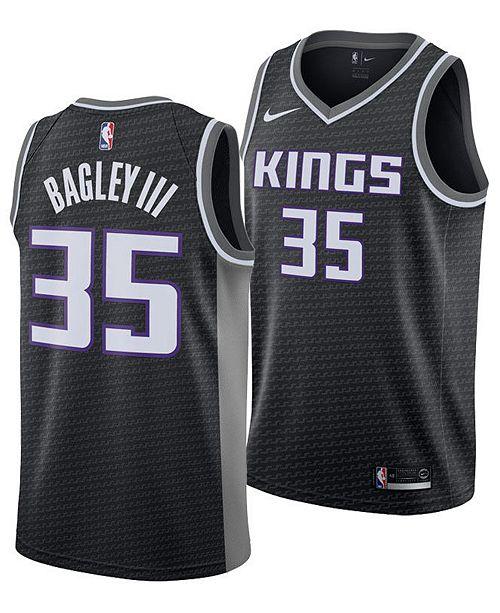 info for a555f 6b989 Men's Marvin Bagley III Sacramento Kings Statement Swingman Jersey
