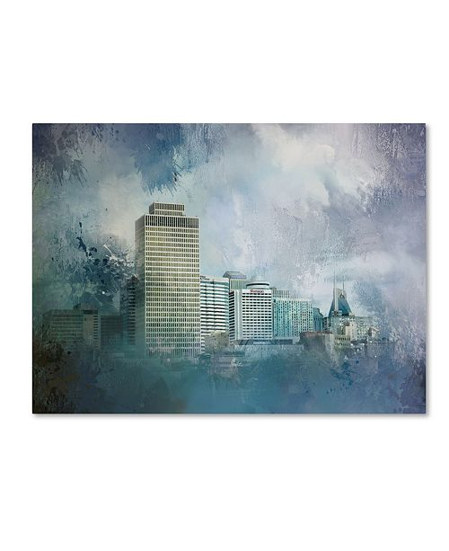 "Trademark Global Jai Johnson 'Nashville Tennessee Skyline' Canvas Art - 47"" x 35"" x 2"""