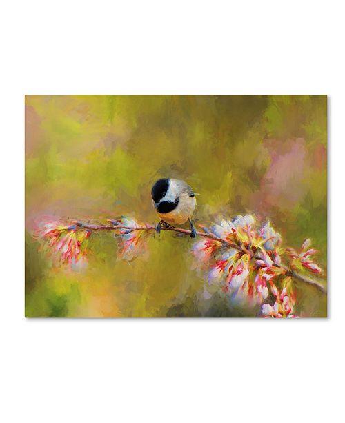 "Trademark Global Jai Johnson 'Impressionist Chickadee' Canvas Art - 47"" x 35"" x 2"""