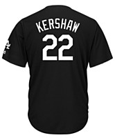 e888449e9193 Majestic Men s Clayton Kershaw Los Angeles Dodgers Black Tux Replica Cool  Base Jersey