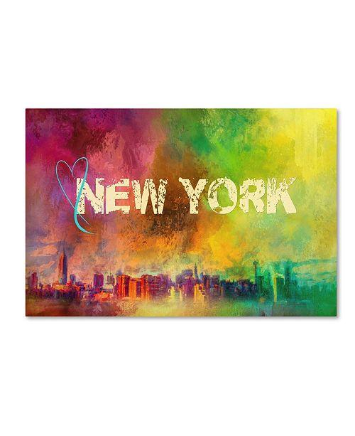 "Trademark Global Jai Johnson 'Sending Love To New York' Canvas Art - 47"" x 30"" x 2"""