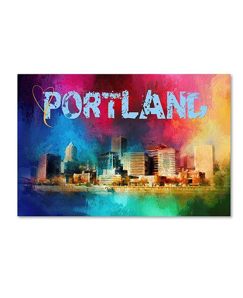 "Trademark Global Jai Johnson 'Sending Love To Portland' Canvas Art - 19"" x 12"" x 2"""