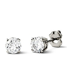 Moissanite Stud Earrings (1/2 ct. t.w. Diamond Equivalent) in 14k white or yellow gold