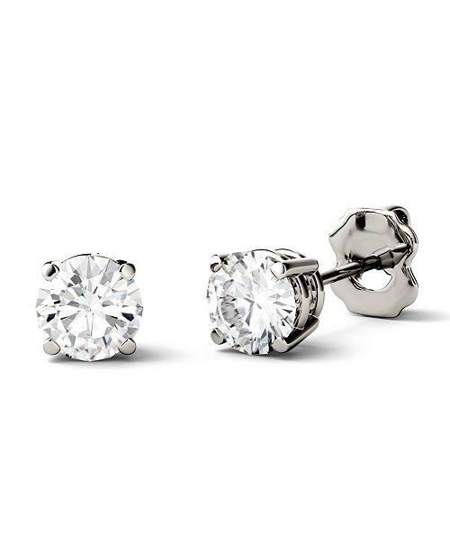 Charles & Colvard Moissanite Stud Earrings (1/2 ct. t.w. Diamond Equivalent) in 14k white or yellow gold