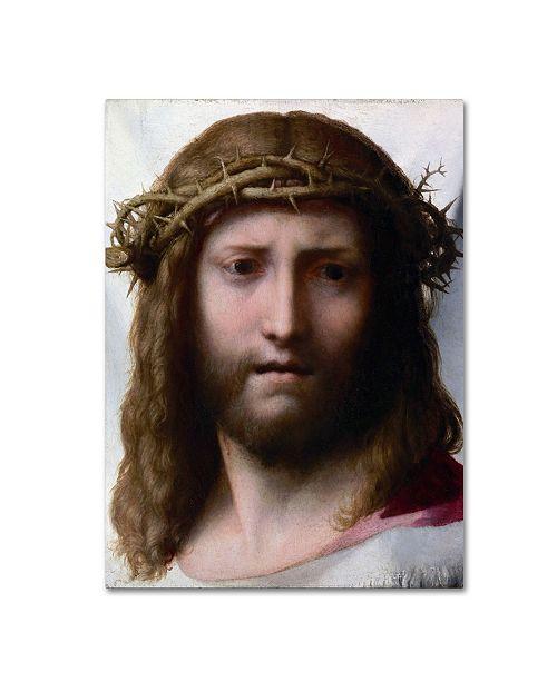 "Trademark Global Correggio 'Head Of Christ' Canvas Art - 19"" x 14"" x 2"""