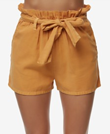 O'Neill Juniors' Belted Paperbag Shorts