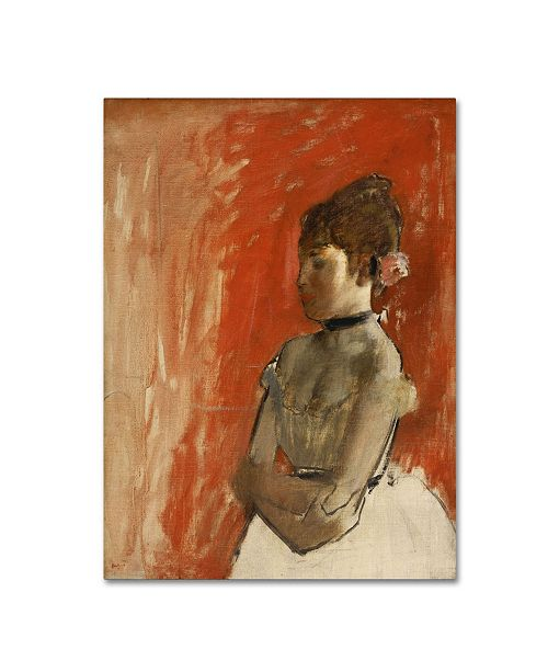 """Trademark Global Degas 'Ballet Dancer With Arms Crossed' Canvas Art - 19"""" x 14"""" x 2"""""""