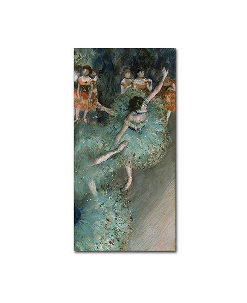 """Trademark Global Degas 'Green Dancer' Canvas Art - 32"""" x 16"""" x 2"""""""