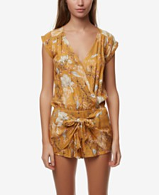 O'Neill Juniors' Printed Tie-Front Romper