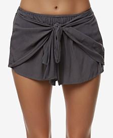 Juniors' Tie-Front Shorts