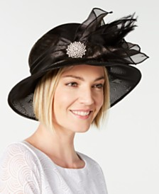 August Hats Metallic Organza Cloche, Created for Macy's