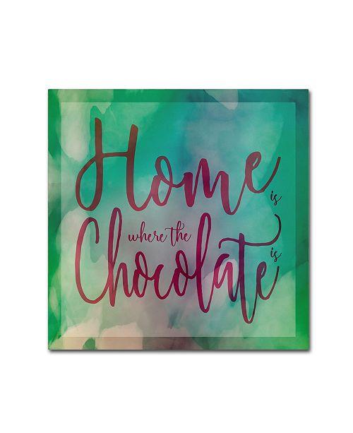 "Trademark Global Cora Niele 'Home Is Where The Chocolate Is' Canvas Art - 24"" x 24"" x 2"""