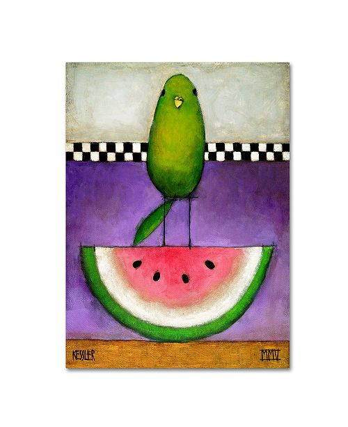 "Trademark Global Daniel Patrick Kessler 'Watermelon Bird' Canvas Art - 24"" x 18"" x 2"""