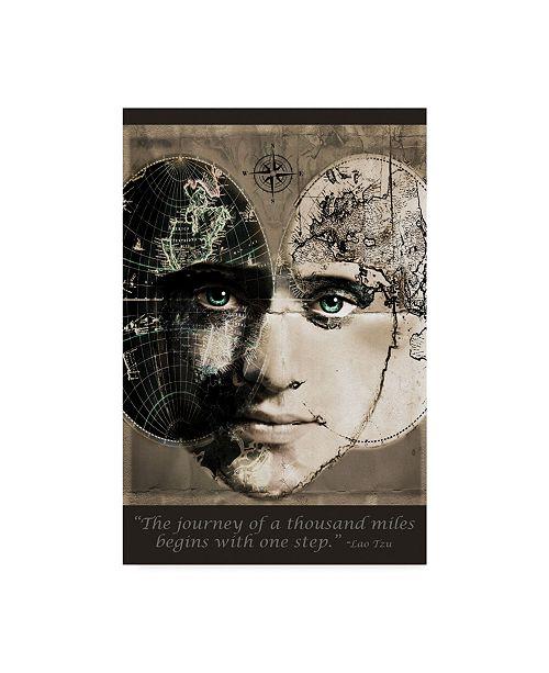 "Trademark Global Dana Brett Munach 'One Step' Canvas Art - 32"" x 22"" x 2"""