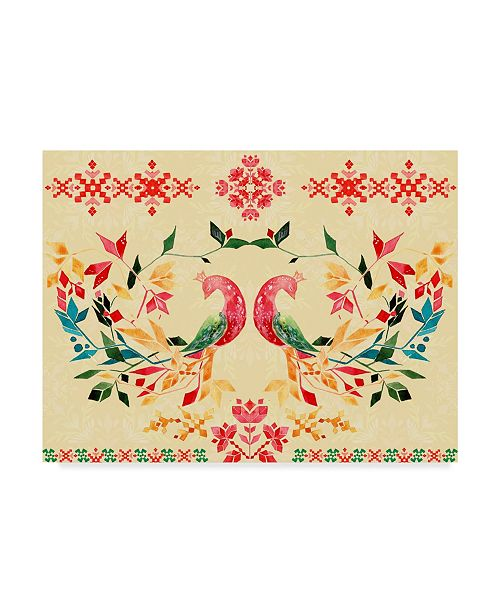 "Trademark Global Irina Trzaskos Studio 'Colorful Birds II' Canvas Art - 19"" x 14"" x 2"""