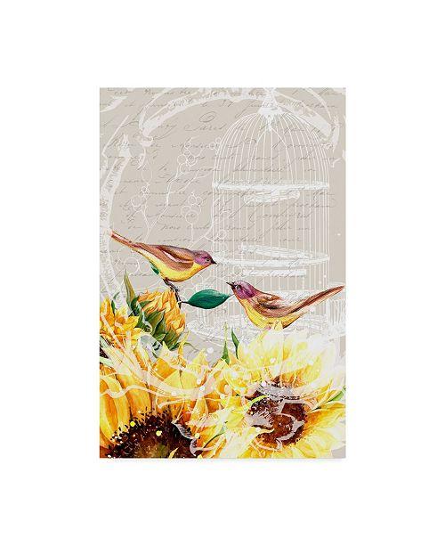 "Trademark Global Irina Trzaskos Studio 'Sunflower Birds I' Canvas Art - 32"" x 22"" x 2"""