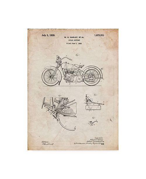 "Trademark Global Cole Borders 'Motorcycle' Canvas Art - 19"" x 14"" x 2"""