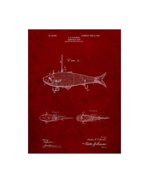 "Trademark Innovations Cole Borders 'Fishing Lure' Canvas Art - 19"" x 14"" x 2"""