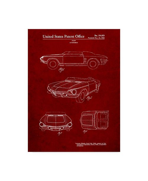 "Trademark Innovations Cole Borders 'Car 7' Canvas Art - 32"" x 24"" x 2"""