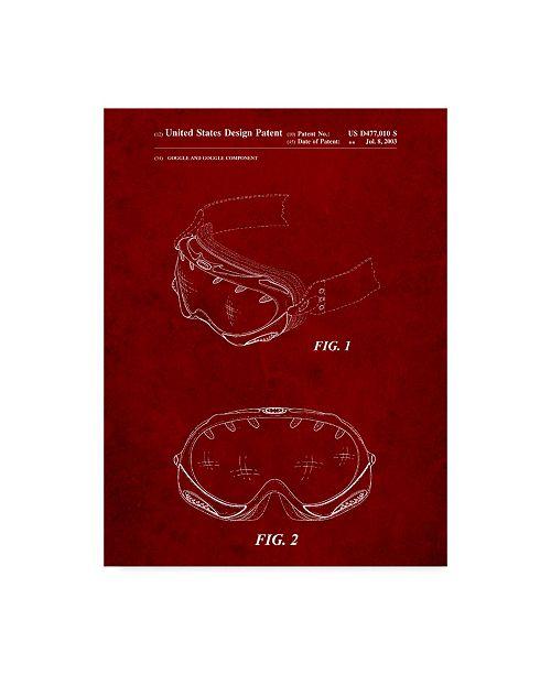 "Trademark Global Cole Borders 'Ski Goggles' Canvas Art - 32"" x 24"" x 2"""