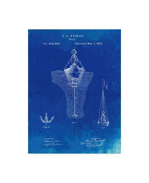 """Trademark Innovations Cole Borders 'Blue Water Buoy' Canvas Art - 24"""" x 18"""" x 2"""""""
