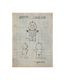 "Cole Borders 'Sunshine Care Bear' Canvas Art - 24"" x 18"" x 2"""
