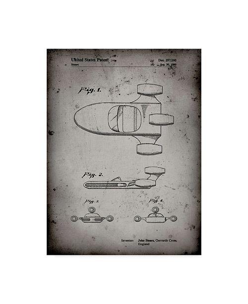 "Trademark Global Cole Borders 'Star Wars X 34 Land speeder' Canvas Art - 19"" x 14"" x 2"""