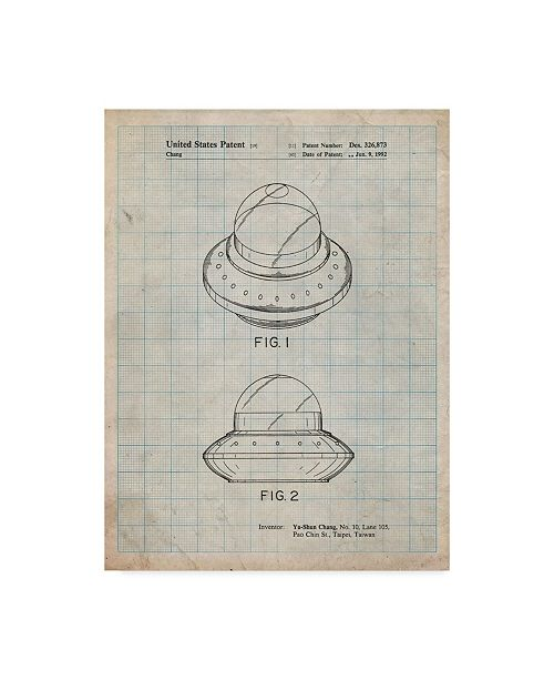 "Trademark Innovations Cole Borders 'Flying Saucer' Canvas Art - 32"" x 24"" x 2"""